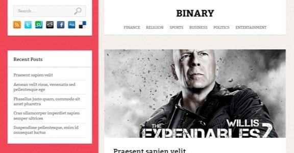 Шаблон Wordpress - Binary