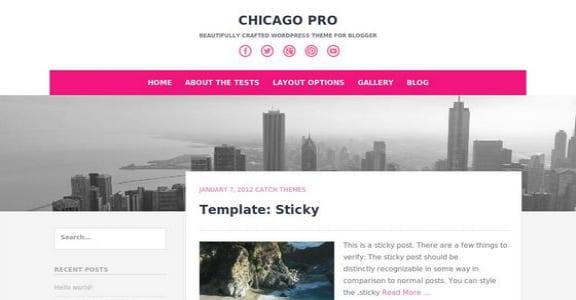 Шаблон Wordpress - Chicago