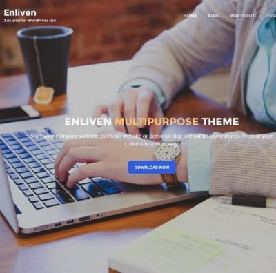 Шаблон WordPress - Enliven
