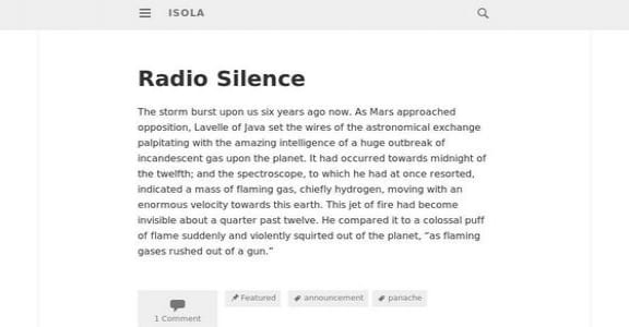 Шаблон Wordpress - Isola