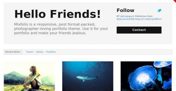 Шаблон Wordpress - Mixfolio