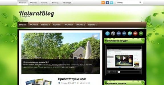 Шаблон Wordpress - NaturalBlog