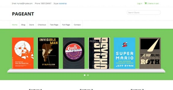 Шаблон Wordpress - Pageant