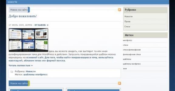 Шаблон Wordpress - Review