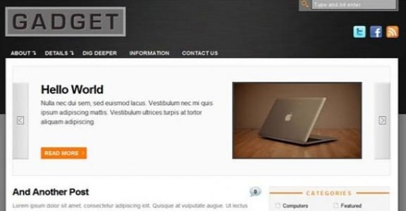 Шаблон Wordpress - Gadget