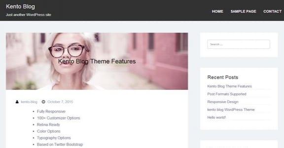 Шаблон Wordpress - Kento Blog