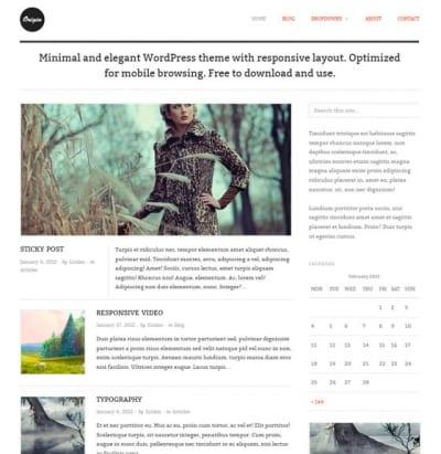 Шаблон WordPress - Origin