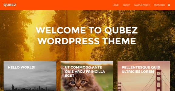 Шаблон Wordpress - Qubez