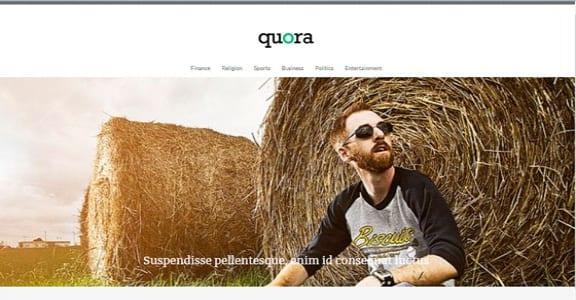 Шаблон Wordpress - Quora