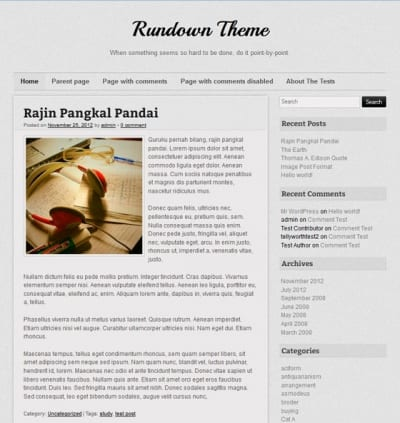 Шаблон WordPress - Rundown