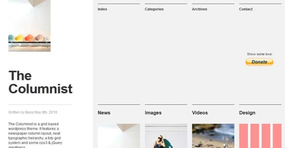 Шаблон Wordpress - The Columnist