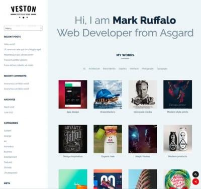 Шаблон WordPress - Veston