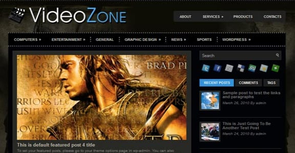 Шаблон Wordpress - VideoZone