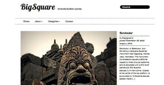 Шаблон Wordpress - Big Square