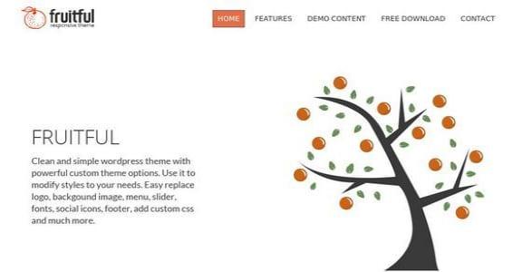 Шаблон Wordpress - Fruitful