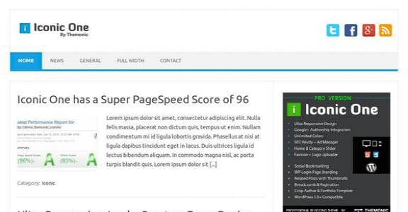 Шаблон Wordpress - Iconic One