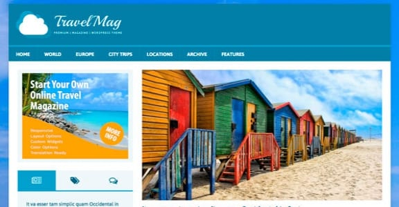 Шаблон Wordpress - MH TravelMag