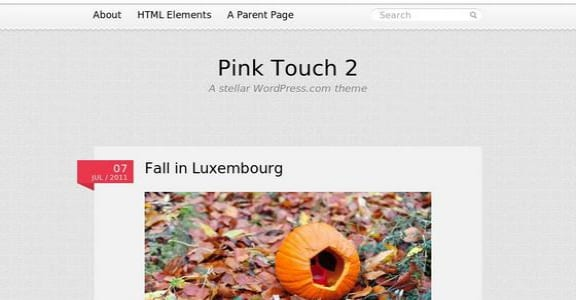 Шаблон Wordpress - Pink Touch 2