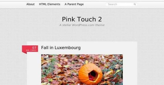 Шаблон Wordpress - Pink Touch 2