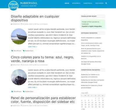 Шаблон WordPress - RubberSoul