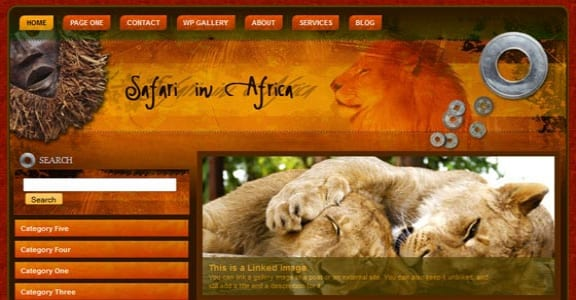 Шаблон Wordpress - Safari In Africa