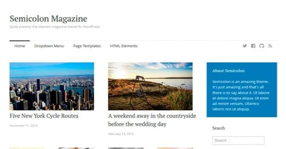 Шаблон Wordpress - Semicolon