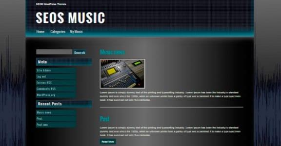 Шаблон Wordpress - Seos Music
