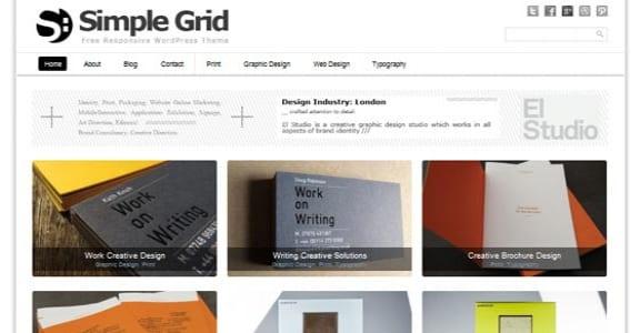 Шаблон Wordpress - Simple Grid