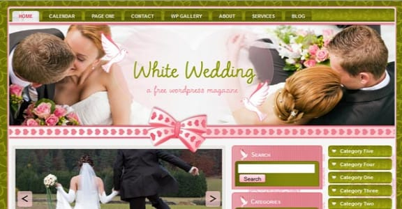 Шаблон Wordpress - White wedding