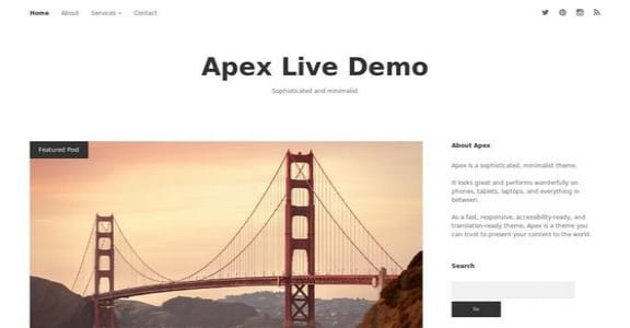 Шаблон Wordpress - Apex
