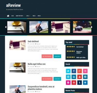 Шаблон WordPress - aReview
