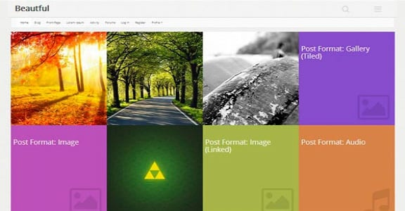 Шаблон Wordpress - Beautiful