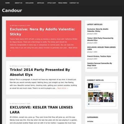 Шаблон WordPress - Candour