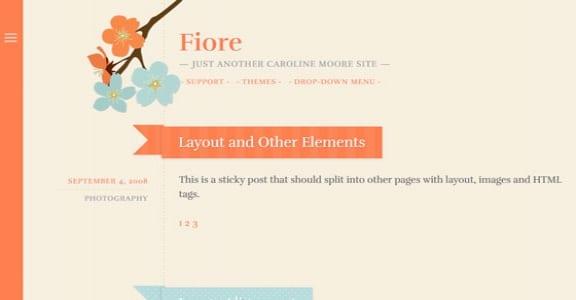 Шаблон Wordpress - Fiore