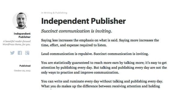 Шаблон Wordpress - Independent