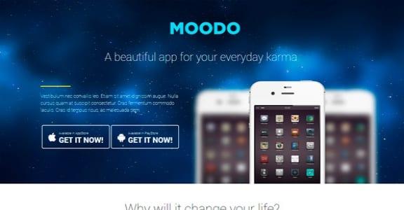 Шаблон Wordpress - Moodo