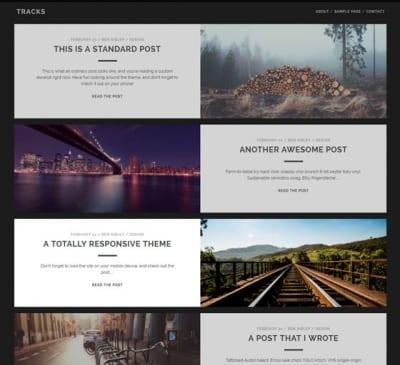 Шаблон WordPress - Tracks