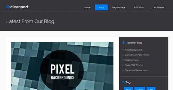 Шаблон Wordpress - CleanPort-Lite