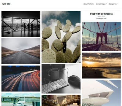 Шаблон WordPress - FullFolio