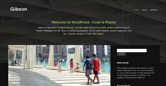 Шаблон Wordpress - Gibson