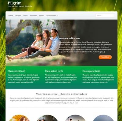 Шаблон WordPress - Pilgrim