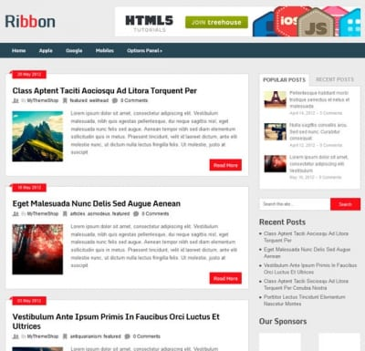 Шаблон WordPress - Ribbon