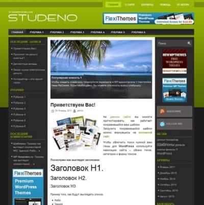Шаблон WordPress - Studeno