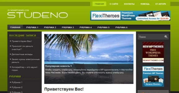 Шаблон Wordpress - Studeno