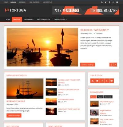 Шаблон WordPress - Tortuga