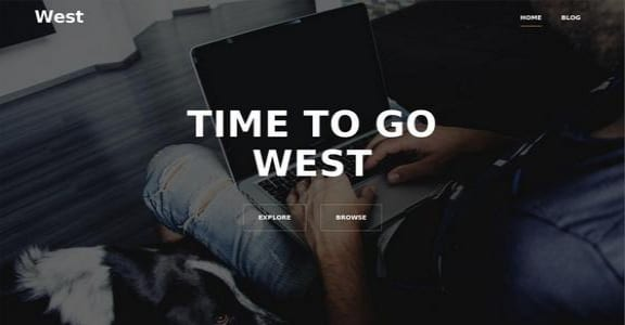 Шаблон Wordpress - West