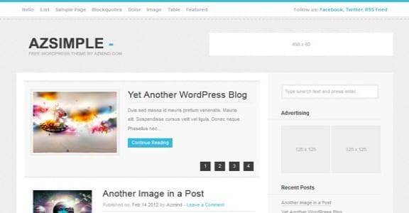 Шаблон Wordpress - Azsimple