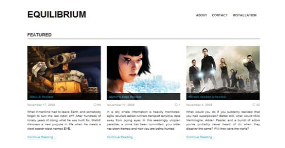 Шаблон Wordpress - Equilibrium