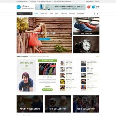 Шаблон WordPress - eStore