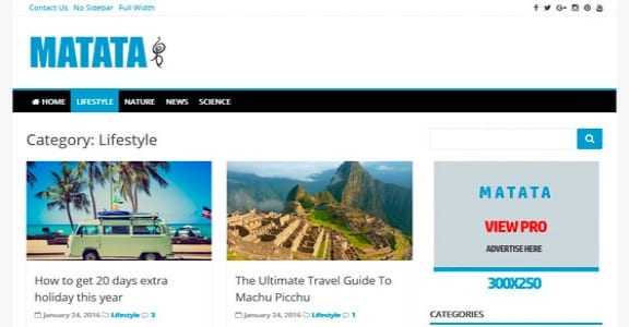 Шаблон Wordpress - Matata